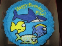 Fishy Themed Birthday Cake