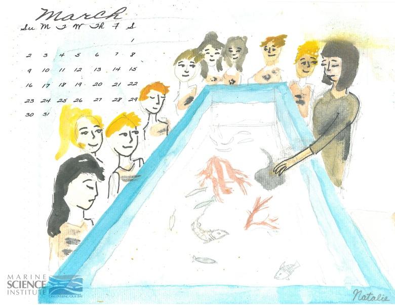 march calendar wet table