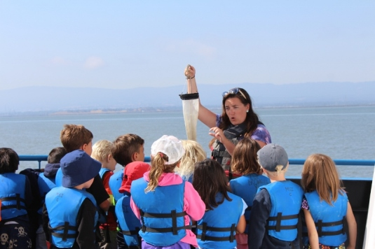 All camps enjoy a day on the Bay aboard our ship.