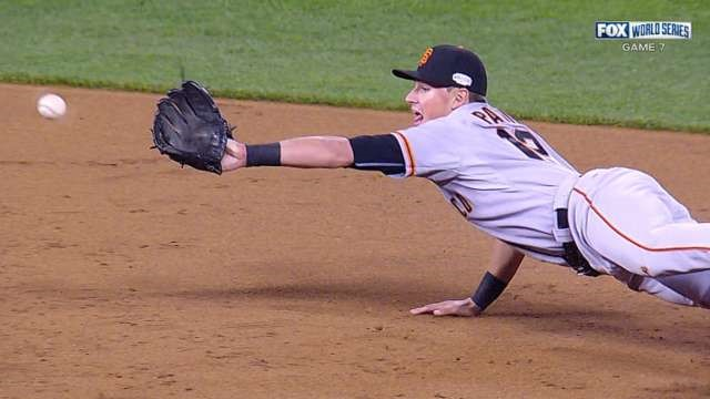 "Joe Panik with the best ""flippin"" double play this season!"