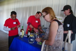 Volunteers pouring refreshments
